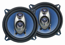 """NEW PYLE PL53BL 5.25"""" 200W 3-Way Car Audio Triaxial Speakers Stereo Blue PAIR"""