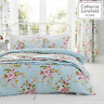 Catherine Lansfield Canterbury Flower Duvet Cover Bedding Set Wallpaper Curtains