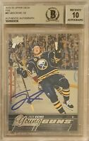 2015 2016 UPPER DECK Jack Eichel AUTO FOIL BGS 10 YOUNG GUNS RC ROOKIE BUYBACKS