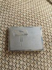 VINTAGE METAL STAMP BOOK HOLDER CASE Silver Colour
