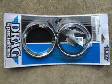 New 1996 - 1999 Harley Davidson FLHT Drag Specialties Chrome Speedo/Tach Bezels