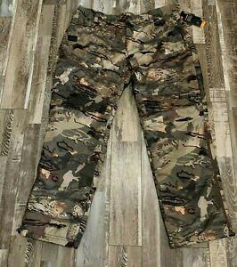 Under Armour Coldgear Brow Tine Forest Camo Hunting Pant Mens Sz 2XL Mid Season