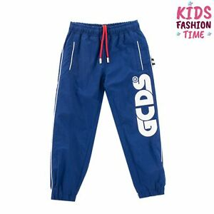 RRP €150 GCDS MINI Unisex Track Trousers Size 8Y Mesh Lined Drawstring Waist