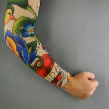 Bird, Flower & Heart Temporary Tattoo Pair of Mesh Sleeves *NEW*