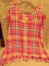 NWT - Ladies Bobbie Brooks 2 Piece Sleepwear Set Pink Plaid - SIZE L