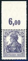 DR 1917, MiNr. 101 c P OR, postfrisch, Fotobefund Weinbuch, Mi. 500,-
