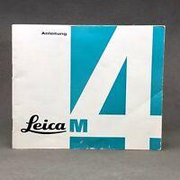Leica M 4, Anleitung, Original Instruction Book, Manual, User Guide