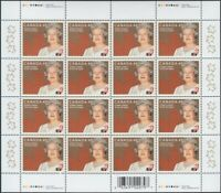 GOLDEN JUBILEE = QUEEN ELIZABETH II = Full sheet of 16 Canada 2002 #1932 MNH VF