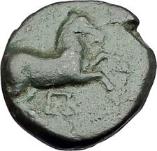 MARONEIA Thrace 400BC Authentic Ancient Greek Coin w HORSE & WINE GRAPES i61647