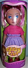 """2014 KS Toys Glitzy Girl 12"""" Blond Hair red highlights in Pink Purple dress"""