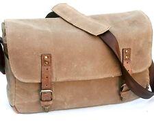 Ona Brown Waxed Canvas Leather Trim Camera Shoulder Messenger Bag