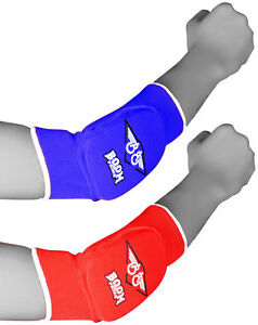 Elbow Pads Martial Arts Padded Brace Arm Support Guard Protector Boxing Gym UFC