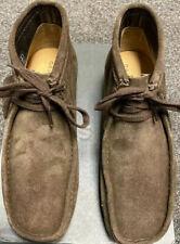 Clarks Originals, Wallabee Boot, Dark Brown Suede, Size 6.5 UK