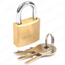 Small 30mm EXTRA STRONG Brass Padlock HEAVY DUTY Quality Security Garage Lock