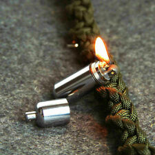 Gear Fire Stash Waterproof Survival Lighter Keyring Camping Pocket Key Chain Kit