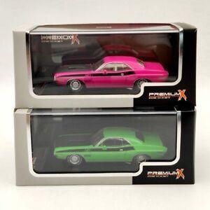 Premium X 1/43 Dodge Challenger T/A 1970 Pink/Green Diecast Models Limited