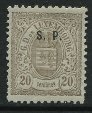 Luxembourg 1881 overprinted Official S.P. 20 centimes mint o.g. hinged