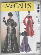 McCall's Sewing Pattern M6818 Miss Steampunk Evil Queen Coat Cape Costume 4-12