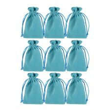 10pcs Green Jewelry Pouches Cloth Gift Storage Bags Wedding Favors 11*7cm