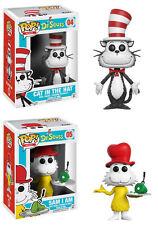 Funko POP! Books ~ CAT IN THE HAT & SAM-I-AM VINYL FIGURE SET ~ Dr. Seuss
