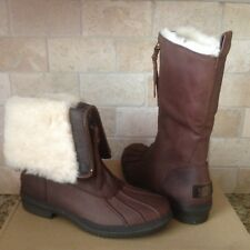 UGG ARQUETTE STOUT WATERPROOF LEATHER RAIN SNOW DUCK BOOTS SIZE US 8 WOMENS