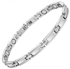 LADIES STAINLESS STEEL MAGNETIC BRACELET CARPAL TUNNEL ARTHRITIS PAIN RELIEF 314