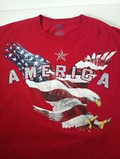 American Summer 3XL Men's T-shirt with Eagle Flag US Patriots Red America