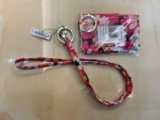 Vera Bradley Zip ID Case and Lanyard Pixie Blooms Badge Holder School Work