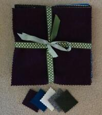 Felted Wool Bundle (Qty 10) 9x9 in Solid Colors pkg #105