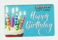 Menards Gift Card - Cupcake, Birthday Candles - No Value - I Combine Shipping