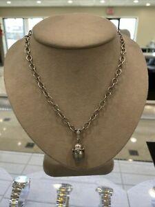 "Loree Rodkin Platinum Diamond Toggle Necklace with Pearl/Diamond Enhancer 19"""