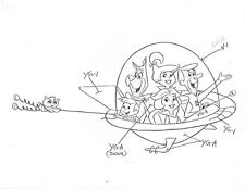 "JETSONS ~ SIX PAGES OF 8""x11"" MODEL SHEETS w/ CLASSIC IMAGES OF MAIN CHARACTERS"