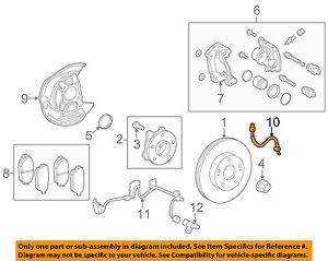 90947-02E49 Toyota Hose, flexible, no.2(for front) 9094702E49, New Genuine OEM P