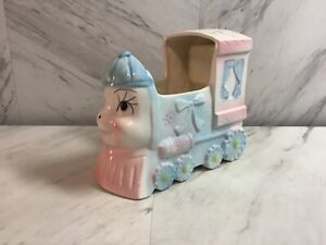 Nancy Pew Giftwares Co.Blue Ceramic Nursery Train Planter with Music