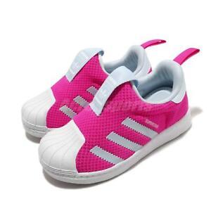 adidas Originals Superstar 360 I Shock Pink Blue White TD Toddler Infant FV3377
