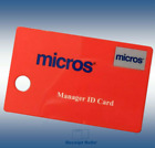 50 Genuine OEM Red Micros Oracle Magnetic Stripe Manager Swipe ID Cards