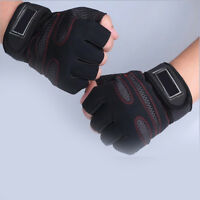 Gym Training Fitness Half Finger Gloves Sports Weight Lifting Workout Exercise