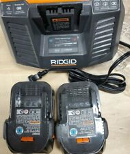 RIDGID R840087 4.0 ah batteries (2 piece) & 1 r840095 charger -all items new