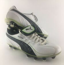 Puma King White Premium Leather Soccer Cleats Boots Mens size 8 A+ Condition