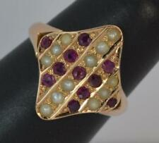 Ruby Rose Gold Ring Art Deco Fine Jewellery