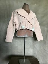 Pinco Pallino Toddler Girl PERUVIAN COTTON Blend CARDIGAN SWEATER Crop Peach 2