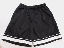 Score Boy's size Youth Medium black with white sports athletic shorts - GUC
