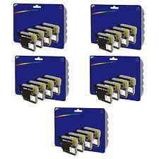 20 Negro Compatible Impresora Cartuchos De Tinta Para Brother Mfc-j6510dw [ lc1280 ]