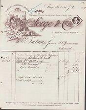 BAYREUTH, Rechnung 1889, Schokolade- & Zuckerwaren-Fabrik Sorge & Co.