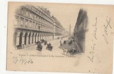 Paris Hotel Continental & Rue Castiglione 1900 Postcard  206a