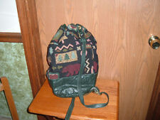 LABBAGS HAND CRAFTED TAPESTRY AND LEATHER TOTE BAG OR SACHEL