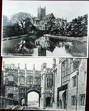 2 X RP OLD PC's, THE CHAIN GATE & CATHEDRAL, WELLS, SOMERSET, UNPOSTED
