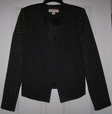 MICHAEL KORS NAVY BLUE GOLD STUDDED LUX 6 BLAZER SUIT JACKET