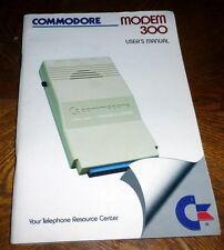 Commodore 64/128 BOOK: MODEM 300 User's Guide