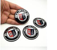 4 x 56,5mm Emblem ALPINA Logo auto Radmitte Radkappen Auto Emblem for car